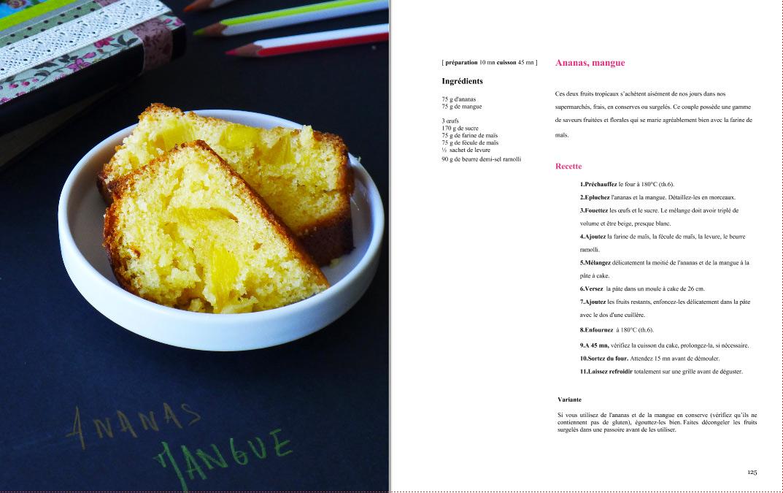cake sans gluten mangue ananas