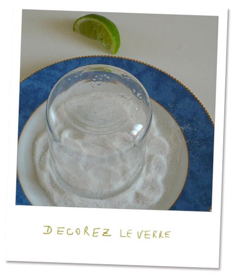 decorez votre verre à mojito